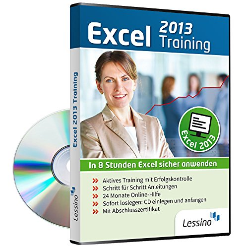 Excel 2013 Training - In 8 Stunden Excel sicher anwenden | Einsteiger und Auffrischer lernen mit diesem Kurs Schritt für Schritt die Grundlagen von Excel [1 Nutzer-Lizenz] -