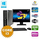 Pack PC HP Compaq 6200 Pro SFF Core i3 3.1GHz 8gb 500GB DVD WIFI W7 + Bildschirm 17
