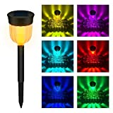 Qiong YaoTIAN Solar Lights Multi-Color Solar Power LED Rasen Lampen wasserdicht Gartenweg Straße Landschaft Lichter Lampe dekoratives Licht 4pcs