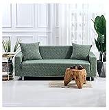 Monba Leinen Stil Sofa Bezug 1 2 3 4 Sitzer Schonbezug Stretch Anti-Rutsch elastische Polyester Couch Cover Loveseat Möbel Protector Waschbar,pine green, 2 Seater:140-185cm