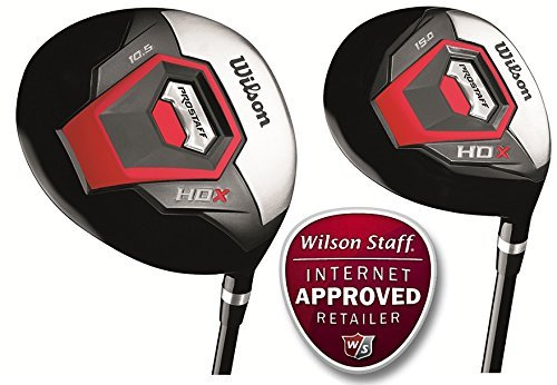Wilson-Prostaff-Steel-Shafted-HDX-Irons-Graphite-Shafted-HDX-Woods-Super-Deluxe-Mens-Complete-Golf-Club-Set-Prostaff-RedBlack-Cart-Bag-Mens-Right-Hand-Limited-Edition-Only-available-from-The-Golf-Stor