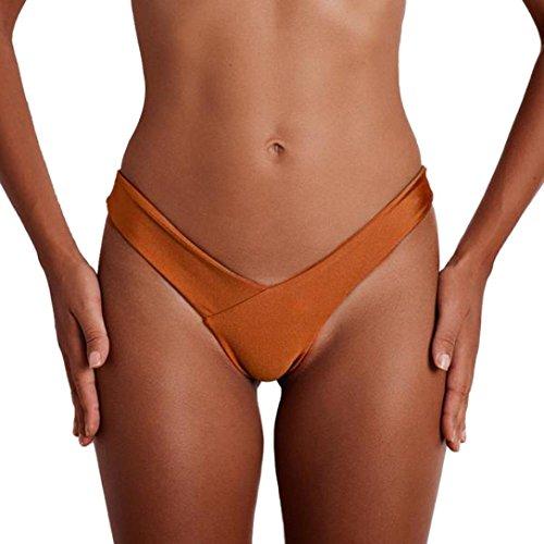 Hansee, mutanda costume da bagno sexy da donna, a V Orange