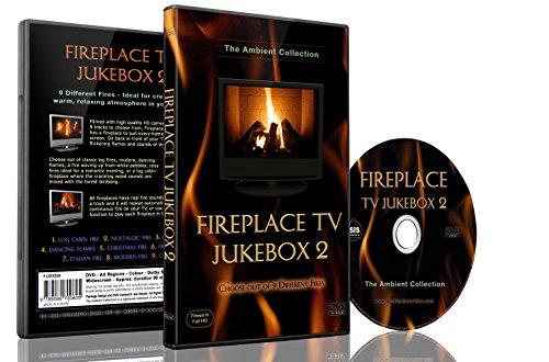 Feuer DVD-Kamin TV Jukebox 2-Wählen Sie aus 9 Kaminen mit echtem Feuer und den Klängen von knisterdem Holz