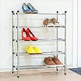 Tatkraft EXPERT Einstellbare 5 Stufen Schuhablage Verchromter Stahl 63.5 X 78 X 22.5 cm