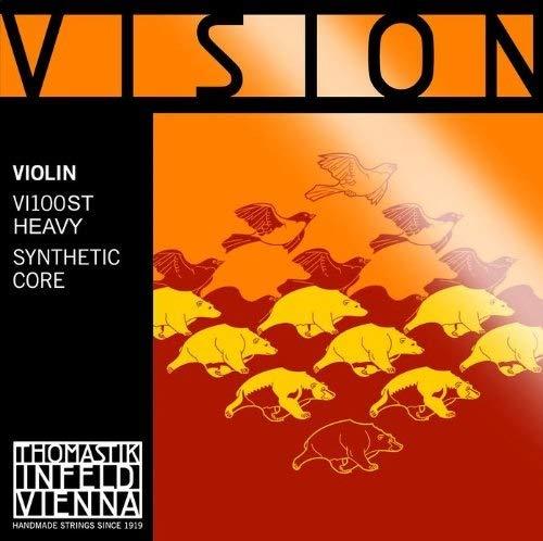 Thomastik Corde per Violino Vision nucleo sintetico, set 4/4 forte