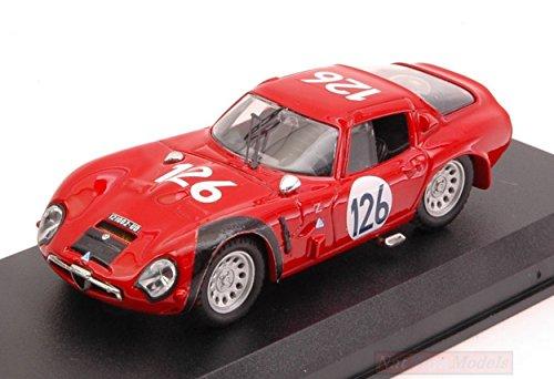 BEST MODEL BT9105 ALFA ROMEO TZ2 N.126 TARGA FLORIO 1966 E.PINTO-N.TODARO 1:43