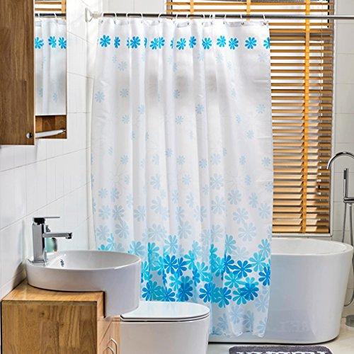 Rideaux de douche Salle de bains de polyester de rideau en douche imperméabilisent la protection de l'environnement de santé en métal opaque Durable ( taille : 200x200CM )