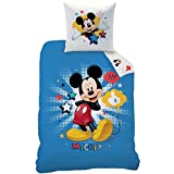 Disney Mickey 043971 Bettwäsche Mickey Star, Baumwolle Renforce, 135 x 200 + 80 x 80 cm