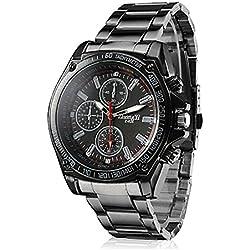 Lightinthebox® Fashion Men's Racing Style Black Alloy Quartz Wrist Watch,Quartz Analog Movement Dress Watch