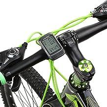 Lixada Computadora Bicicleta Multi Funciones Cableado / Inalámbrico Ordenador Velocímetro Odómetro con Pantalla LCD