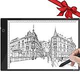 A4 LED Leuchttisch Ultradünner Lichtkasten Touch-Steuerung Stufenloses Dimmen mit USB-Stromkabel für Künstler, Zeichnen, Skizzieren, Animation, Designen, Schablonieren