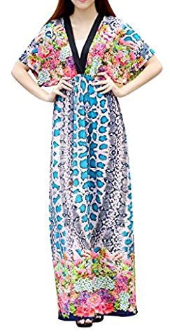 QZUnique - Robe spécial grossesse - Femme Bleu Sexy Snake Stripe XXXXL
