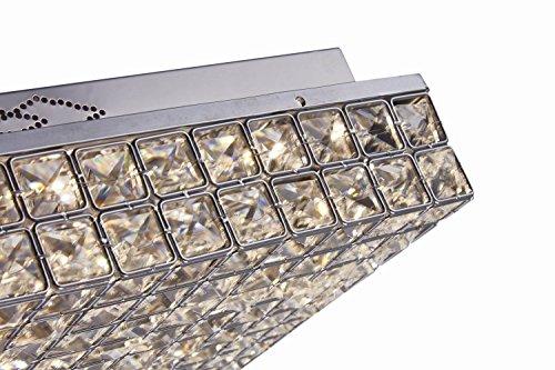 Plafoniere Acciaio E Cristallo : Glighone plafoniere da soffitto lampadario di cristallo moderno e