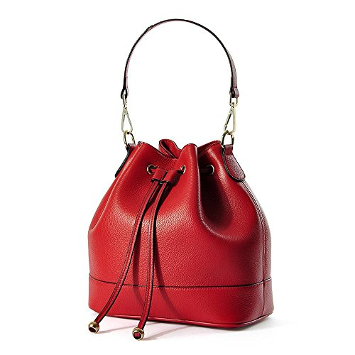 Ladies Girls Soft Cuir véritable sac à dos sacs à main épaule sacs à bandoulière Crossbody , red Red