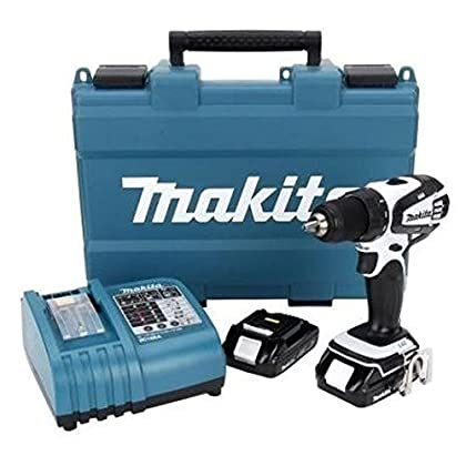 Makita lxfd 01cw 18 V Compact de iones de litio Cordless 1/2 Inch controlador de Drill Kit by Makita