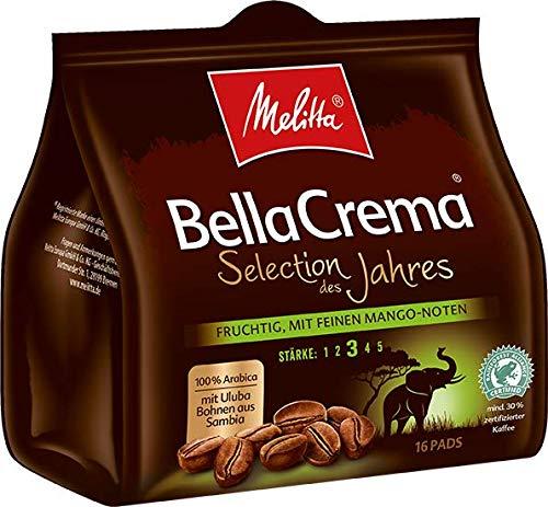Melitta gemahlener Röstkaffee in Kaffeepads, 16 Pads, weiches Aroma mit Mango-Noten, Stärke 3, Selection des Jahres 2019