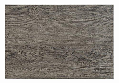 Tischset in grauer Holz-Optik, 4er-Set   Platzset je 45x30 cm   Aus Kunststoff und robustem PVC   Abwaschbarer Tischschutz, 4-teilig   Tischdeckchen Tellerunterlage in Grau   Holz-Style Holz-Look