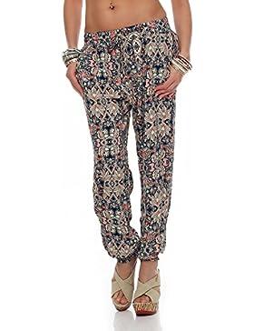 M2K - Pantalones de mujer en toda la impresión Leisure Beach Yoga Pantalones de verano Jegging (PM8055)