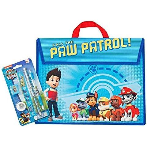 Paw Patrol libri scolastici e borsa 5pezzi Set di cancelleria - Messaggio Cancelleria