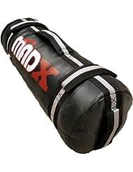 MADX - Saco de arena para entrenamiento (vacío), color negro y gris