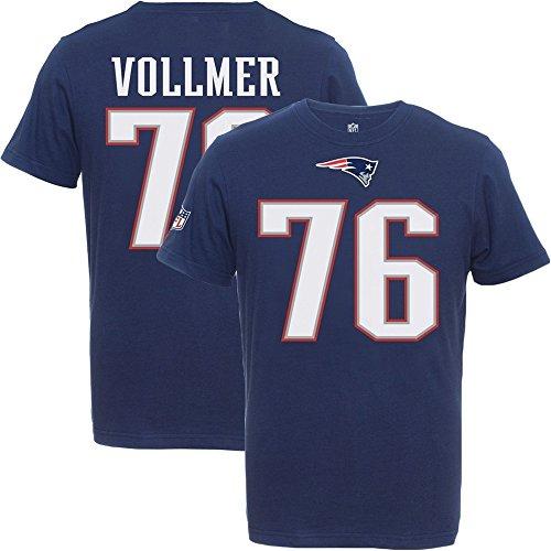 Majestic Sebastian Vollmer #76 New England Patriots Eligible Receiver NFL T-Shirt XXL