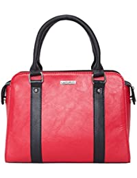 Heart Held Woman's Hand Held Bag Red - B07BVD5SVR