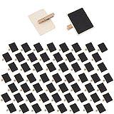 60 Stk. Tafelklammern EX210 Holztafel mit Klammer ideal für Namensschilder, Pflanzenschilder und zum Basteln