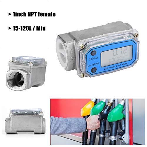 Misuratore di Portata A Turbina Digitale,15-120L / Min Acciaio Inox Diesel Combustibile Benzina Contalitri Digitale Per Misurare Diesel,Urea,Cherosene,Benzina