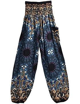 Smock High Waist Yoga Pants, Pantalón de Mujer Ba Zha Hei, Pantalones Harem tailandeses de Las Mujeres de los...