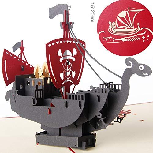 Card Stock Party Supplies Einzigartige Piraten-Schiffs-Abschluss-Gruß-Karten-kreative Karten