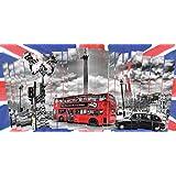 Innova FP03312 - Cuadro en lienzo (imprimido, 50 x 100 cm), diseño de collage de Londres
