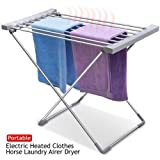 Foldable Heated Airer Drying Rack Electric Powered-Sliver