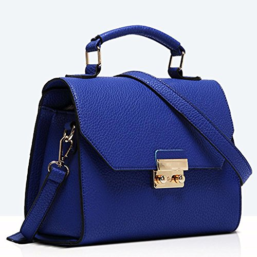 GBT Die neue Damen-Gezeiten-Schulter-Beutel-Handtaschen-Art- und Weisehandtaschen deep blue