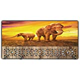 Xpression Décor Key Holder Rack with Photo of Elephant 11742