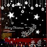 LHWY Christmas Decoration Decal Window Stickers Home Decor New Year Gift (E (45*60cm))