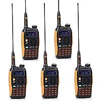 Baofeng PoFung BF GT-3 MARK II Versión Transceptor Walkie-Talkie Dual-Band Radio DTMF RX CTCSS / DCS OACO Radio de Dos Vías, Chipsets Mejorada, ABS Marco (5 * Radio + 1 * Cable de Programación)