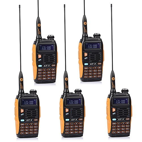 5 Pack Baofeng BF MARK II GT-3 Transceiver Talkie-Walkie Dual-Band DTMF RX CTCSS/DCS BCLO Two Way Radio * Version la plus Nouvelle en 2014 avec les Fonctions Renforcées et une Notice Conviviale + 1 Câble de Programmation
