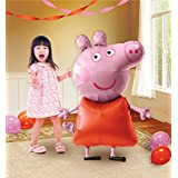 Peppa Pig Birthday Party Balloon 36 in (W) x 48 Inches (H) Foil Balloon Air Walker by Mayflower Products