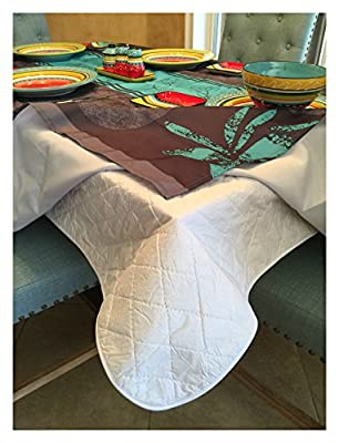 First Quality Quilted Table Protectors - Quilted Dining Table Pad With Flannel Backed For More Protection - low-cost UK light shop.