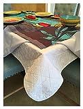 Primera calidad acolchado protectores de mesa–acolchada almohadilla de mesa de comedor con respaldo de franela para mayor protección