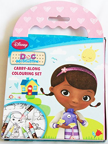 Disney Junior Doc McStuffins, Spielzeugärztin Carry Along 60 Seite Colouring Book Set mit Cray ...