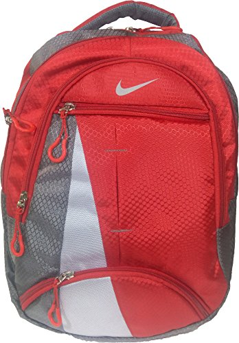 Nike Red & Grey Backpack, Bag, For School, Office and Laptop Backpack Bag (Water Resistant)  available at amazon for Rs.799