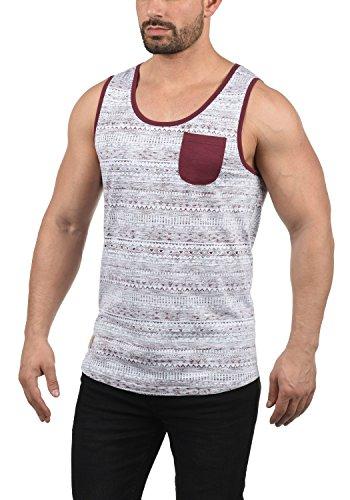 !Solid Imbre Herren Tank-Top Mit Rundhalsausschnitt Aus 100% Baumwolle Regular Fit, Größe:M, Farbe:Wine Red (0985) - Hawaii-blumen-muster-shirt