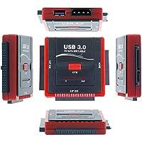 WANLONGXIN WLX-888U3IS USB 3.0 a SATA / IDE Converter Cavo Adattatore per 2.5 / 3.5 Pollici SATA I / II / III o IDE Hard Disk, con Adattatore di Alimentazione