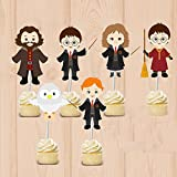 6 Harry Potter Party Deko Cup Cakes Sticks Party Picker Kindergeburtstag