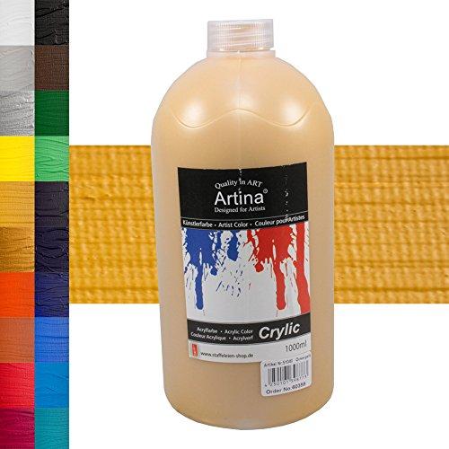 Colore acrilico Artina - 1000ml - giallo ocra - disponibili 24 diverse tonalità