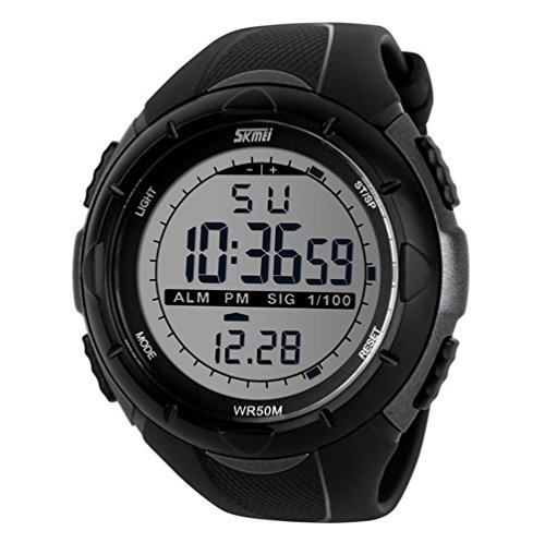 b7181c4ecb10 Sunjas - Reloj de pulsera deportivo digital para hombres