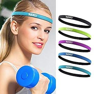 Easy-topbuy Elastisches Stirnband Schweißband Kopf Stirnband Herren Sport Damen Tennis Frottee Yoga Laufendes Radfahren Kopftuch Outdoor Sport Haarband