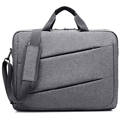 CoolBELL 17,3 Zoll Laptop Messenger Bag multifunktional Aktentasche mehrfachfach Handtasche mit Schultergurt für Macbook / Acer / HP / Dell Alienware / Lenovo / Herren / Damen,Grau (Aktentasche Computer Laptop)
