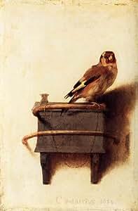 Poster/Impression sur toile - 8 x 12 inches / 20 x 30 CM - Carel Fabritius - Le Chardonneret (2)
